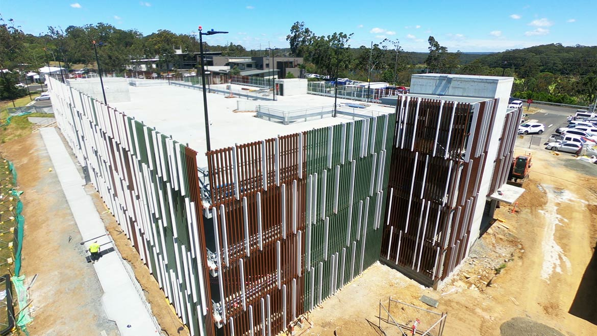 Shoalhaven Hospital Topping out Time lapse